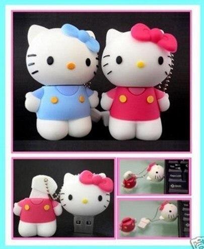 0!Best qualityusb flash More color mini usb cartoon sweet kt cat model USB Flash drive Memory Pen Drive Stick 4GB 8GB 16GB  S13