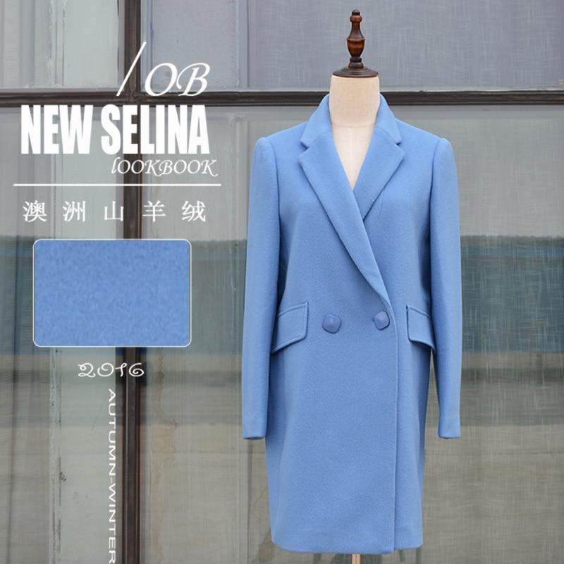 Survêtement Costume Livraison Manteau Gratuite Hiver Épaississement Laine long Femme Bleu Moyen De pYzw8