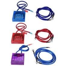 Универсальный стабилизатор для экономии топлива с цифровым дисплеем, стабилизатор напряжения, комплект с 3 заземляющими кабелями для автом...