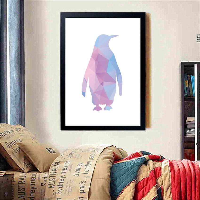 Cotill Dekorative Bilder Geometrische Pinguin Wandkunst Leinwand ...