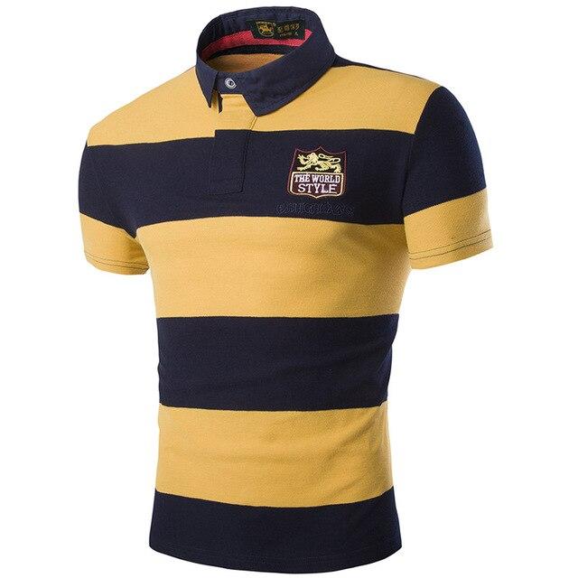 Aliexpress Buy Embroidery Logo Pique Polo Shirts Men 2017