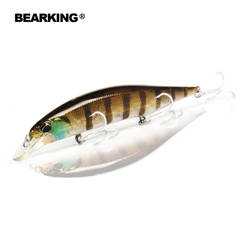 Retail Bearking hot model fishing lures hard bait different colors for choose 120mm 18g minnow, quality professional minnow