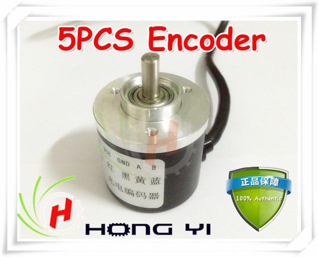 Топ Бесплатная доставка 5 шт. Кодер 400 P/R Инкрементальный Энкодер 400 P/т фаза AB кодер 6 мм Вал для ЧПУ