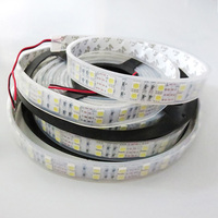 5M 16.4ft 12V SMD RGB 5050 IP67 Waterproof 600 LED Double Row Tube Led Strip Lights Lamps RGB White Red Green Blue