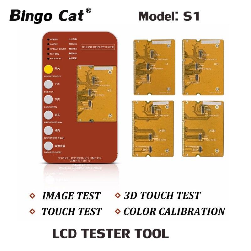 S1 Digitador Display LCD Tester Tool Box com Placa PCB Para o iphone X XS XR XS MAX Teste Motherboard Toque tela 3D Teste de Toque