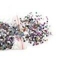 2000 Unids Rhinestone Glitter 3D Nail Art Decoraciones Mini Lindo Estrella Multicolor Corazón Gel Extremidades Falsas Del Clavo de DIY Belleza Accesorios