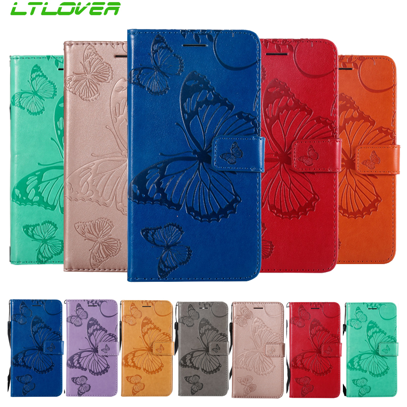 Newest 3D butterfly lovely embossing Flip PU Leather Case For Google Pixel 2 XL Card Slots Cover For Google Pixel 2 Cases Fundas