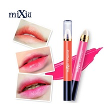 New Style Velvet Lips Gloss Makeup 8colors Lasting Liquid Lip Kit Matte MIXIU Brand Cosmetic Sexy Nude Lipgloss With Double Head