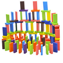 Colored 120Pcs 12Colors Set Authentic Standard Wooden Children Domino Game Fun Blocks Kid Educational Building Toys for Children(China)