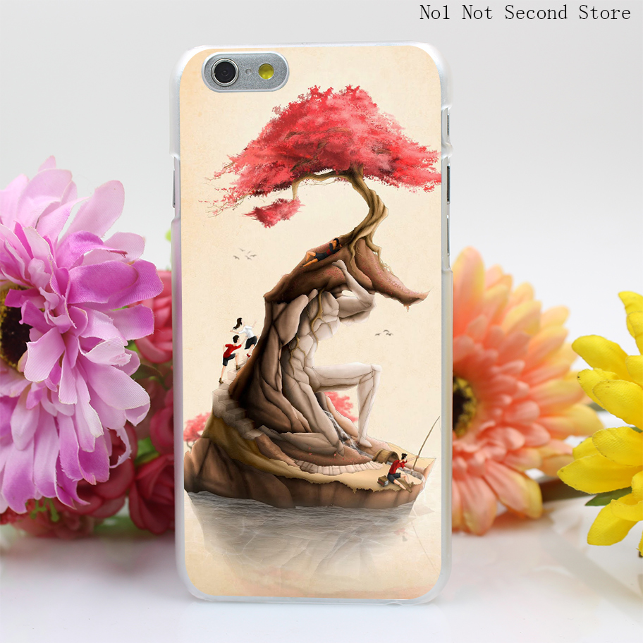 1276SD The Island Of Atlas Hard Clear Transparent Cover for iPhone 4 4S 5 5S SE 5c 6 6s Plus Phone Cases