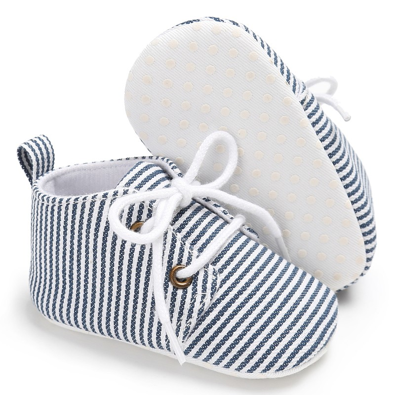 Baby Shoes Striped Baby Boys Shoes School Soft Foot Newborn Prewalker Toddler Shoes for 0-18M