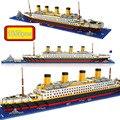 1860 pcs NO match legoeings RS titanic cruise ship model boat DIY building Diamond Blocks Kit children kids toys Christmas gifts