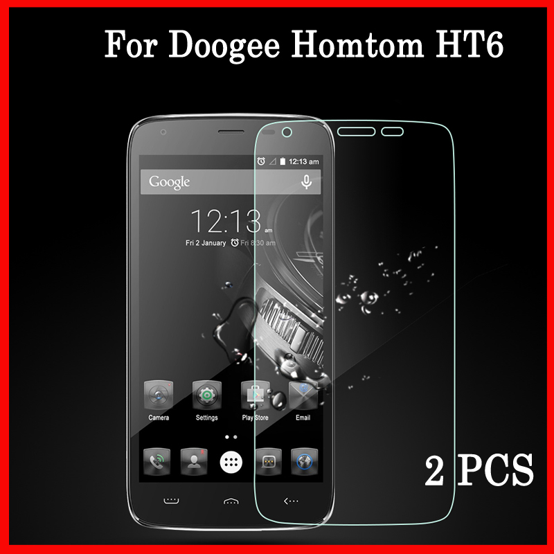 2 PCS Premium For Doogee Homtom HT6 High Quality Tempered Glass Screen Protector For Homtom HT6 Phone Glas Protective Case Films