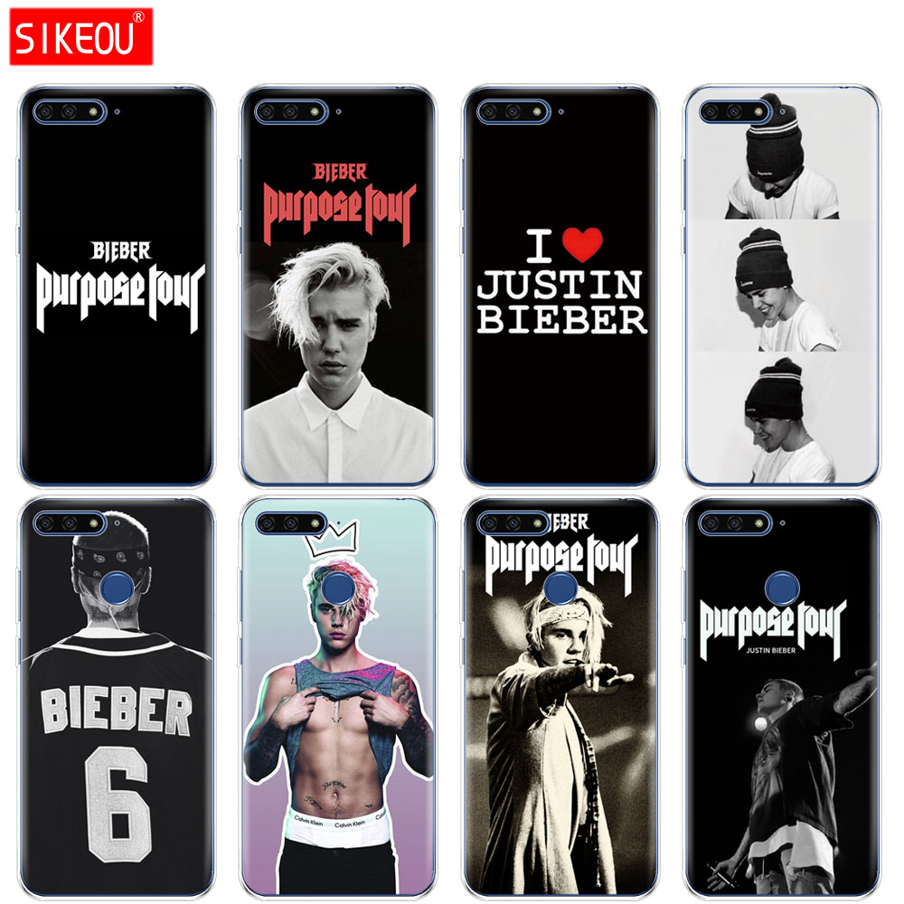 Silicone Cover Phone Case For Huawei Honor 7a Pro 7c Y5 Y6 Y7 Y9 2017 2018 Prime Justin Bieber Purpose Tour Year-End Bargain Sale Phone Bags & Cases