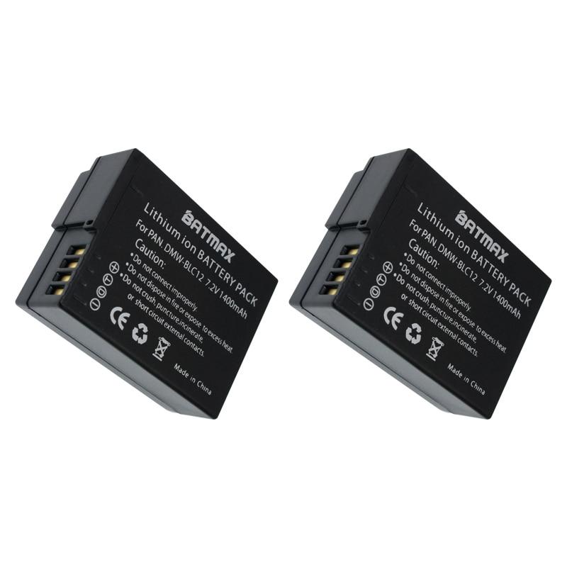2 (pack) dmw-blc12 batterie blc12pp blc12e blc12 batterien für panasonic lumix dmc-fz200...