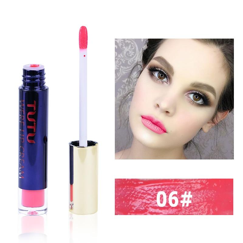 Professional Lip Makeup Matte Lip Gloss Velvet Red Lipstick Liquid Tint Waterproof Moisturizer Full Color Lip Gloss Set Make up 4
