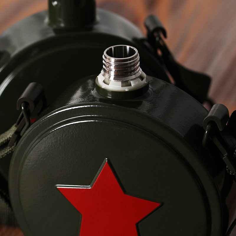 مياه الفولاذ غير القابل للصدأ الفولاذ زجاجة 304 قارورة الإفراغ التمويه العسكرية غلاية الرياضة في الهواء الطلق زجاجة التخييم زجاجة ماء للدراجة 50B
