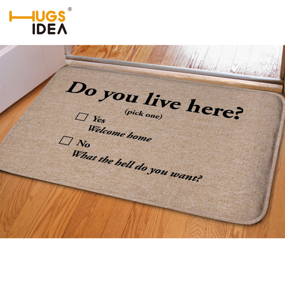HUGSIDEA Creative Home Bedroom Kitchen Rugs and Carpets Do You Live Here Go away Cats Dog Paws For Indoor Kids Room Floor Carpet