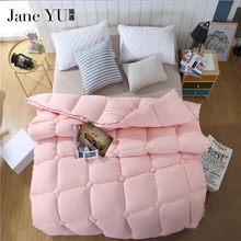 winter Wool quilted Quilt twin queen king size Cashmere Comforter pink white color