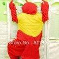 New Adult  Fleece  Animal Lobster Pajamas Sleepsuit Animal Cosplay Pyjamas Unisex Red