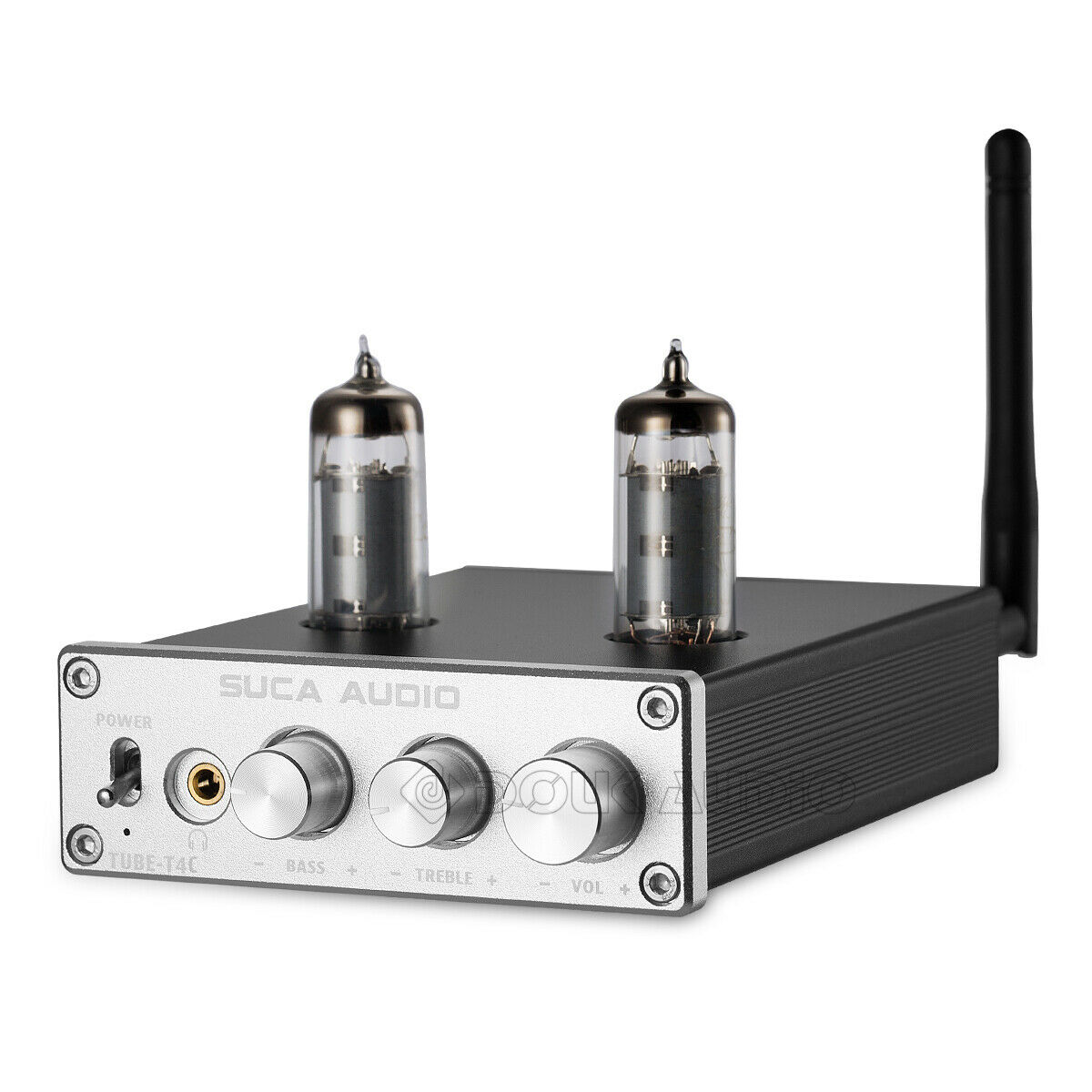 HiFi Hybrid Tube Power Amplifier Stereo Headphone Amp Bluetooth Receiver 50W*2