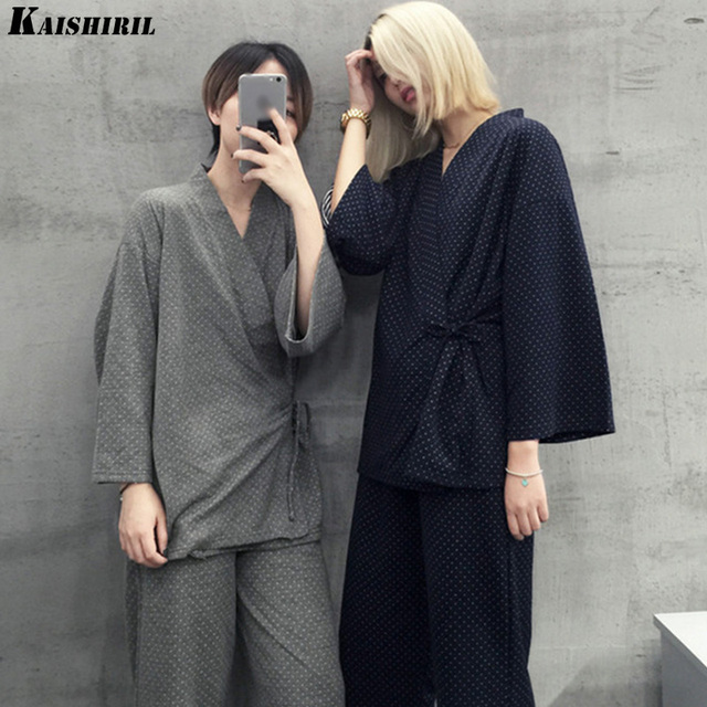 KAISHIRIL 2018 Cotton Pajamas For Women Men Couple Casual Sleepwear Men & Female Pyjamas Women 2 Pieces Pajama Sets Home Clothes
