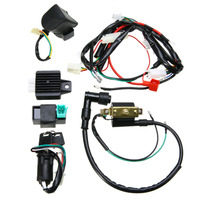 Mayitr 50cc 125cc Motorcycle CDI Wiring Harness Loom Solenoid Coil Rectifier for 50cc 110cc 125cc PIT Quad Dirt Bike ATV