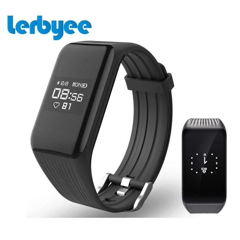 Lerbyee fitness Tracker pulsera inteligente en tiempo real HR pulsera fitness Sleep Tracker impermeable IP67 activity Tracker para Android