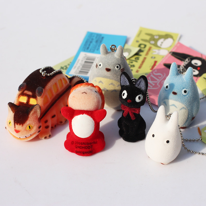 1set Japanese Hayao Miyazaki Cartoon Movie My neighbor Totoro Ponyo on the Cliff KiKis Delivery Service