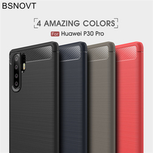BSNOVT For Huawei P30 Pro Case Cover Shockproof Silicone Brushed Bumper Fundas 6.2