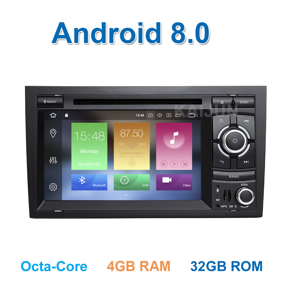 8 core Android 8.0 Car DVD Multimedia Player per Audi A4 S4 RS4 2002-2007 con la Radio WiFi BT GPS 4 gb di RAM