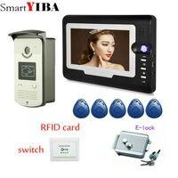 SmartYIBA 7 rfid карт открыть дверь блокировки громкий Динамик видео швейцар домофона Наборы безопасности проводной видео и аудио дома домофон
