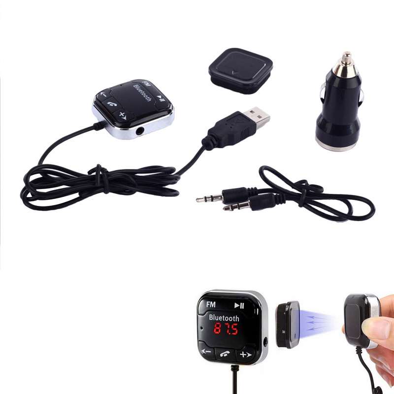 Mayitr Bluetooth 4.0 Transmissor FM Mini LCD Kit Mãos Livres Bluetooth Car Kit Mp3 Player Transmissor FM Sem Fio USB SD Para BT-760
