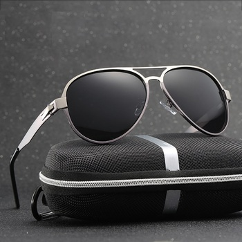 68b60c2806 Cubojue aviación polarizada gafas de sol hombres 146mm ancho gafas de sol  para hombre conducción antideslumbrante película tinte UV400 piloto negro  lente