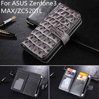 Neue Fall Für Asus Zenfone 3 Max Abdeckung Leder Luxus Flip Handy Brieftasche Fall Für Asus Zenfone 3 Max ZC520TL Buch fällen