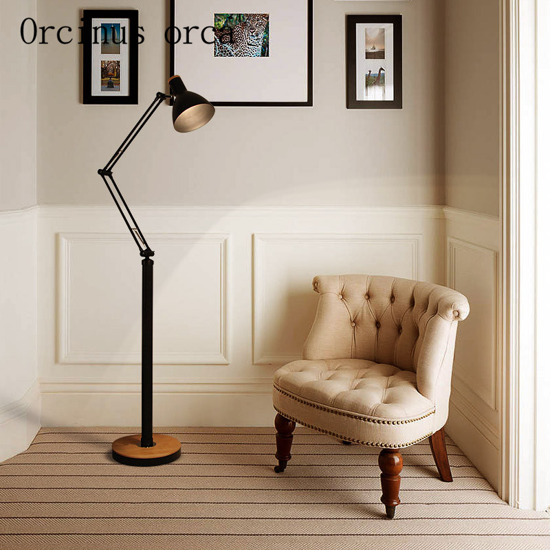Lights & Lighting Lamps & Shades Fashion Style 2016 Free Shipping Led Folding Rotary Floor Lamp Light Office Work And Study Lamp Bedroom Living Room Study