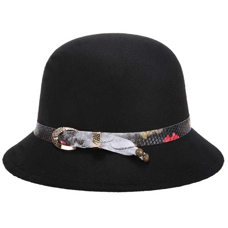 300862619da61 New Casual Bowler Top Hat For Women Winter Cloche Caps Fashion Braid ...