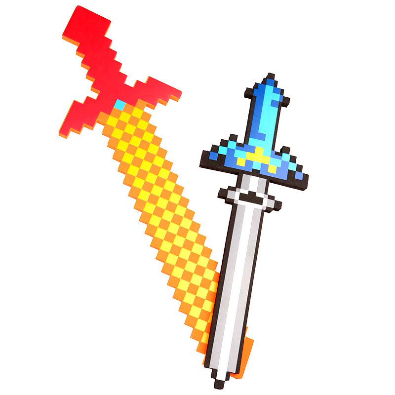 60-80CM Newest Minecraft Toys Colorful Minecraft Sword Foam Action Figures Toys Children's Toys New Year's Gifts minecraft toys minecraft sword eva model toys action figures toys for kids brinquedos gifts