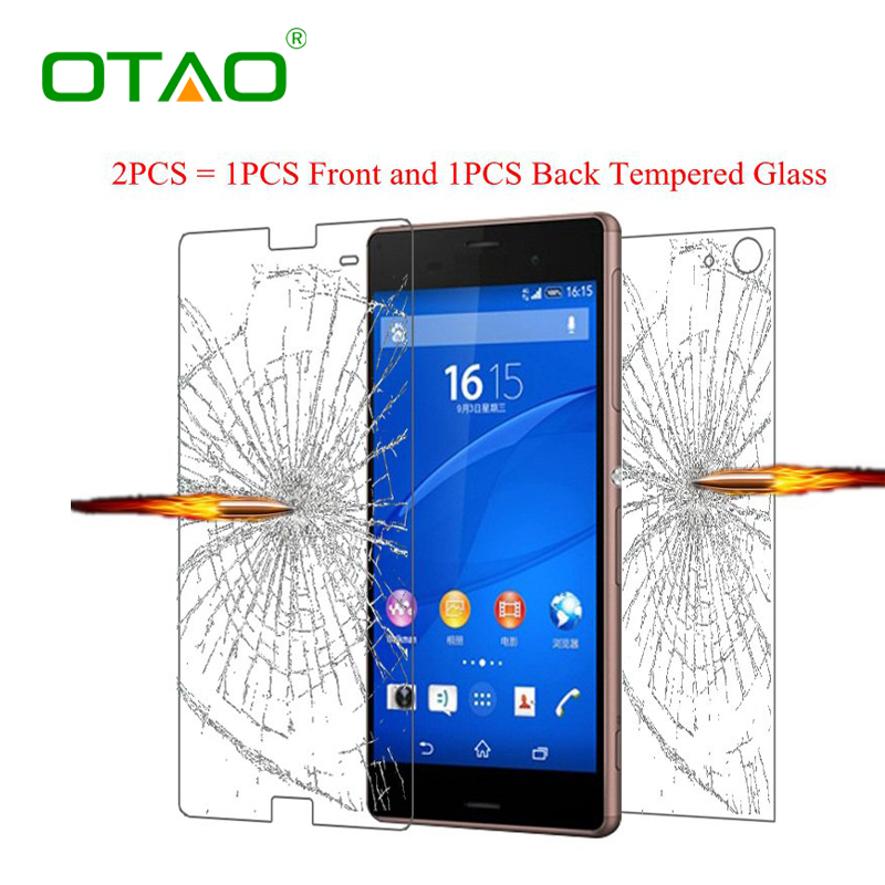 Front and Back Tempered Glass Screen Protector For Sony Xperia Z1 Z2 Z3 M5 Z5 compact
