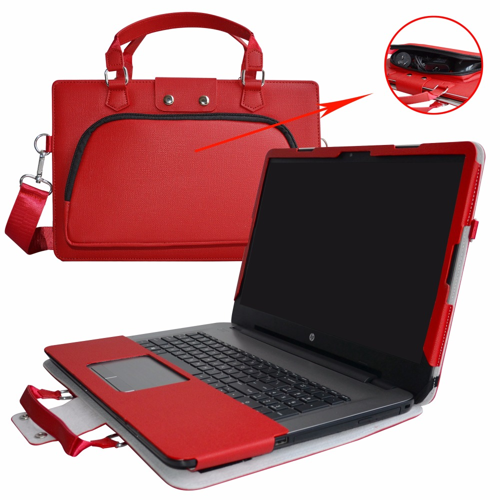 Accurately Designed Protective PU Case + Portable Carrying Bag For 17.3 HP Notebook 17 1 ...