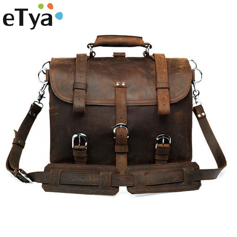 Genuine Leather Men Bag Business Briefcase Messenger Handbags Men Crossbody Bags Men's Travel Shoulder Bag Fashion Tote Bags casual canvas women men satchel shoulder bags high quality crossbody messenger bags men military travel bag business leisure bag