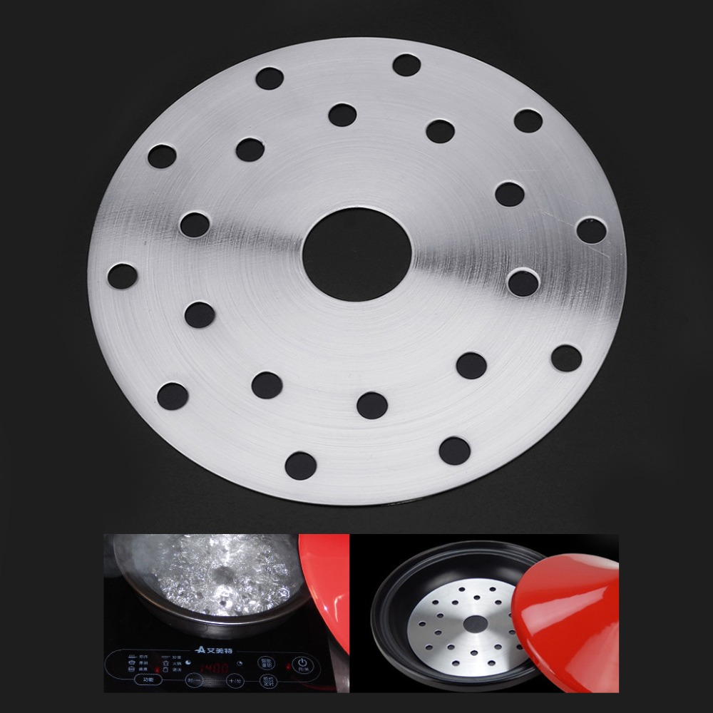 MEXI Stainless Steel Cookware Thermal Guide Plate Induction Cooktop Converter Disk 14.8 Diameter