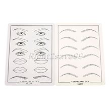 2 Pcs 1set Tattoo Practice Skin Eyebrow Lips Eyes Excellent Permanent Makeup Training Skin Set For
