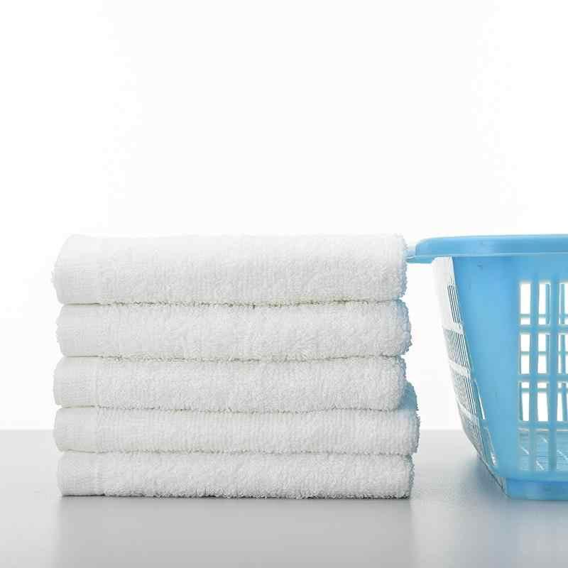 물 흡수성 코튼 목욕 비치 타월 화이트 호텔 타올 세트 성인용 페이스 타올 욕실 홈 Washcloths 73*33cm