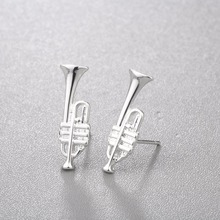 Music Themed Trumpet Earrings