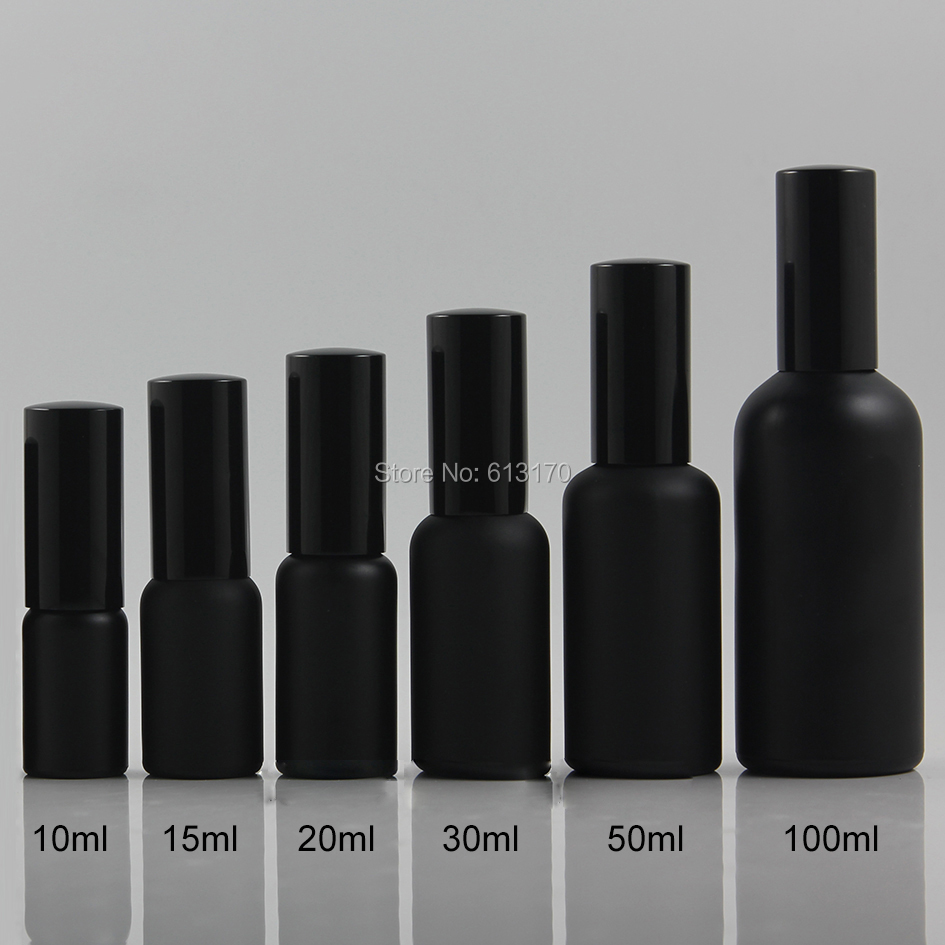 10ml,15ml,30ml,50ml,100ml Black Frosted Glass spray bottle With Black pump,Empty Essential Oil Vials,Perfume bottle free shipping 10pcs adm691ar