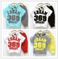 2016 Hot sale  boys girls Sport suit clothes  children kids short  clothing set T-shirt + pants