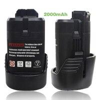 2 stücke 10,8 v 2000 mAh Li-Ion Elektrowerkzeuge Akku für Bosch BAT411 BAT412A BAT413A D-70745 GOP 10,8 V, PS20-2, PS40-2 Wiederaufladbare