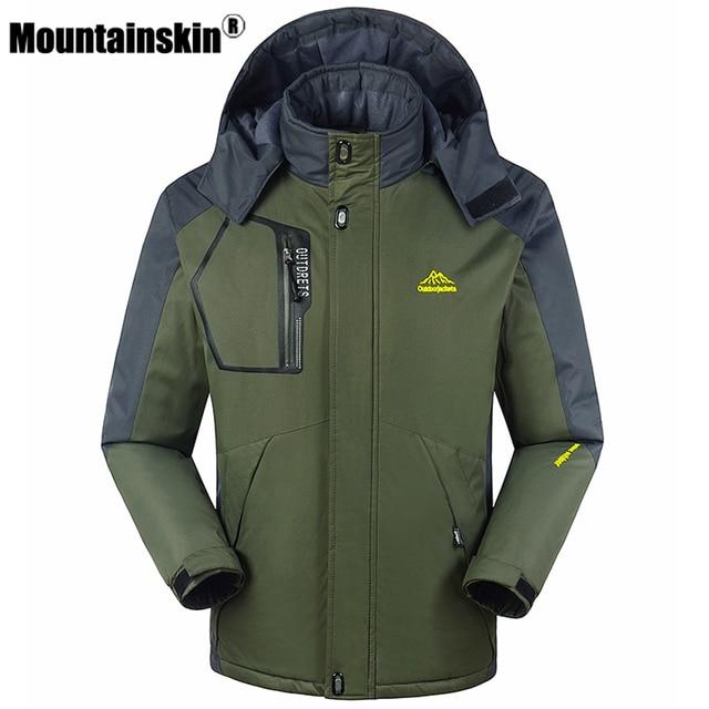 Mountainskin Winter Men's Jackets Plus Size 8XL 9XL Windpoof Army Coats Men Outerwear Thick Fleece Male Jackets Waterproof SA349
