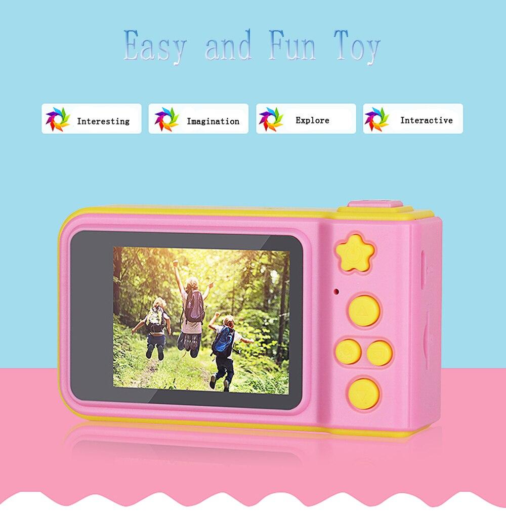 HTB1mS4QXf1H3KVjSZFBq6zSMXXaH KOMERY Children's Digital Camera 2 Inch Screen Display Cartoon Cute Camera Birthday Gift 1080P Toddler Toys Video Camera For Ki